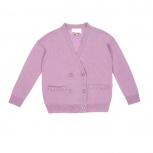 MISSISSIPI Silk and cashmere cardigan with gathers - purple.jpg