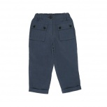NEVADA Straight-cut trousers with flap pockets - bleu.jpg