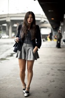 Jen Brill gray flared shorts.jpg