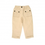 NEVADA Straight-cut trousers with flap pockets - beige.jpg